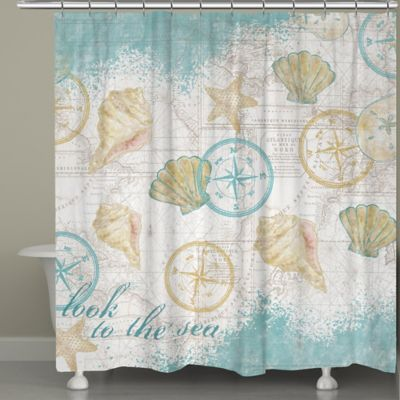 Laural Home  Look to the Sea Shower Curtain Buy Bathroom Sets from Bed Bath Beyond
