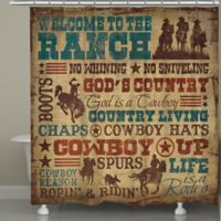 "Laural Home® ""Welcome to the Ranch"" Shower Curtain"