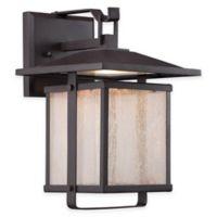 Minka Lavery® Hillsdale 8-Inch 1-Light Wall-Mount Outdoor LED Lantern in Bronze