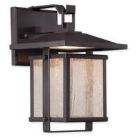 Minka Lavery® Hillsdale 14-Inch 1-Light Wall-Mount Outdoor LED Lantern in Bronze
