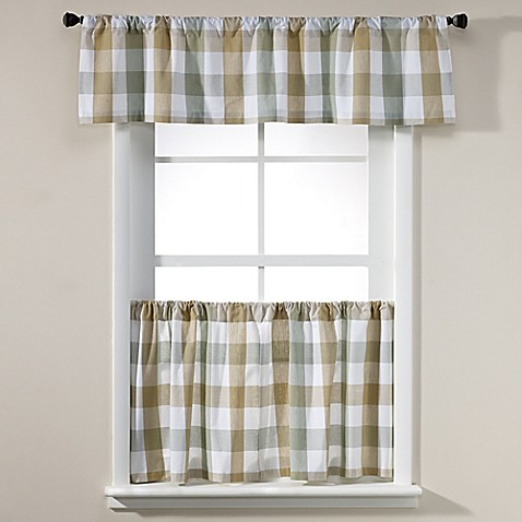 harper window curtain panel and valance bed bath beyond