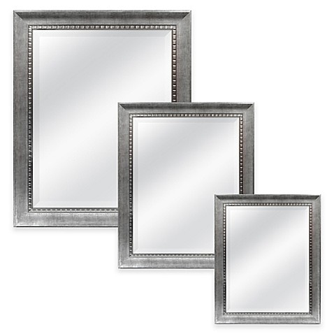 Harrison Rectangular Mirror in Silver Bed Bath & Beyond
