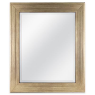 Mason 21 Inch x 25 Inch Rectangular Mirror in Gold. Buy Bedroom Wall Mirror from Bed Bath   Beyond