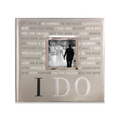 I Do Faux Leather 160 Photo Wedding Album In Silver