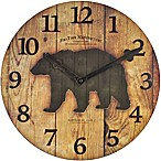 FirsTime® Bear Restoration Wall Clock in Brown