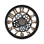 FirsTime® Vintage Gears Wall Clock in Black/Gold
