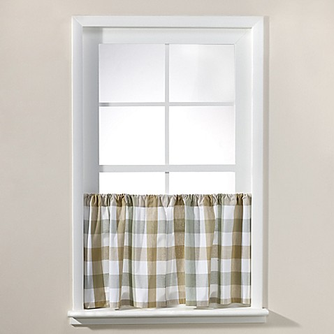 Buy Harper 36 Inch Window Curtain Tier Pair In Natural From Bed Bath Beyond
