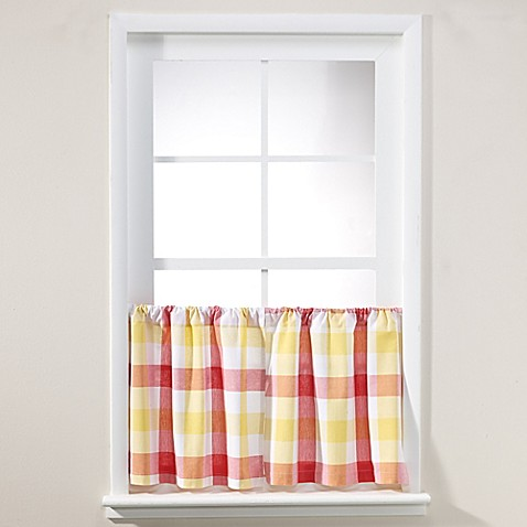 Buy Harper 24 Inch Window Curtain Tier Pair In Red From