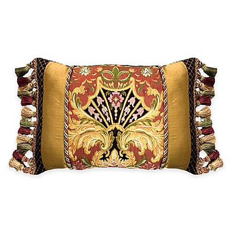 Austin Horn Classics Ashley Oblong Throw Pillow in Gold