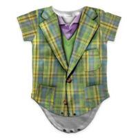 Faux Real Size 6M Photorealistic Plaid Suit Short Sleeve Bodysuit