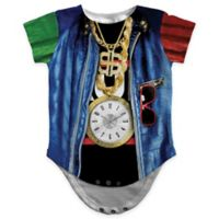 Faux Real Size 12M Photorealistic Old School Rapper Short Sleeve Bodysuit