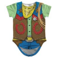 Faux Real Size 18M Photorealistic Cowboy Short Sleeve Bodysuit
