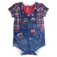 Faux Real Size 12M Photorealistic Farmer Short Sleeve Bodysuit