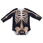 Faux Real Size 12M Photorealistic Skeleton Long Sleeve Bodysuit