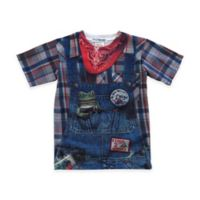 Faux Real Size 3T Photorealistic Farmer Short Sleeve T-Shirt