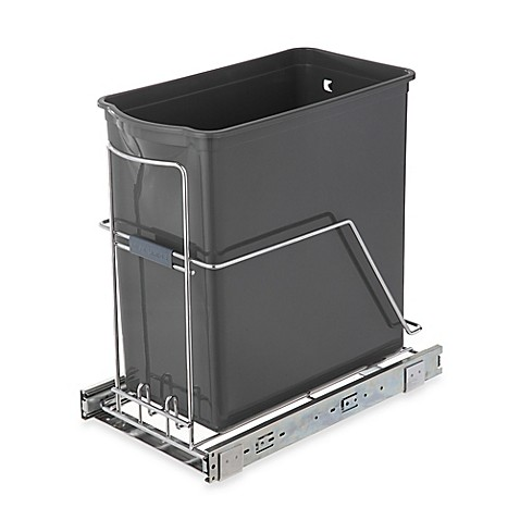 image of Real Simple® 30-Liter Pull-Out Trash Can