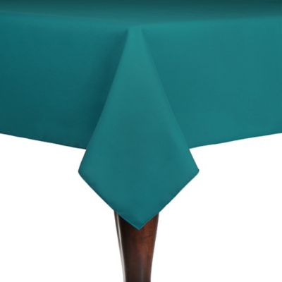 Spun Polyester Indoor/Outdoor 54 Inch X 54 Inch Square Tablecloth In Teal