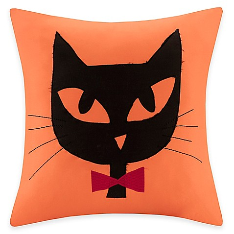 Madison Park Black Cat Square Throw Pillow - Bed Bath & Beyond