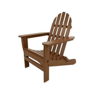 POLYWOOD® Folding Adirondack Chair In Teak