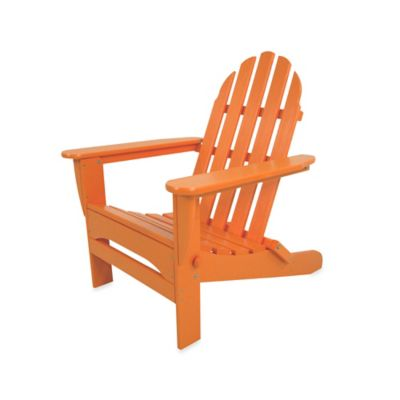POLYWOOD® Folding Adirondack Chair In Tangerine