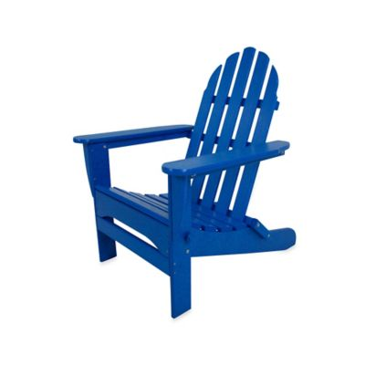 POLYWOOD® Folding Adirondack Chair In Pacific Blue