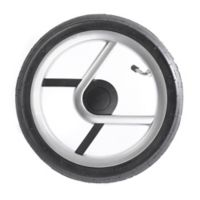 Mutsy Igo StrollerAir-Filled Rear Wheel Set in Black/Silver