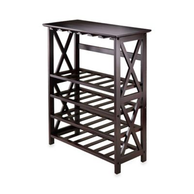 Buy Espresso Wine Rack From Bed Bath Beyond