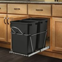 Rev A Shelf Double 35 Qt Pull Out Waste Containers