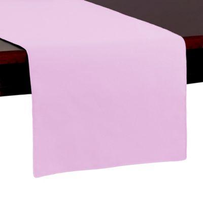 Spun Polyester 54 Inch Table Runner In Light Pink