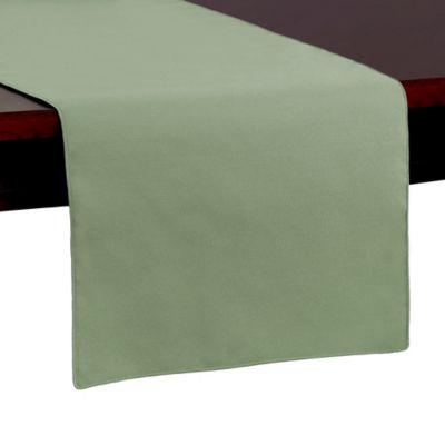 Spun Polyester 54 Inch Table Runner In Sage