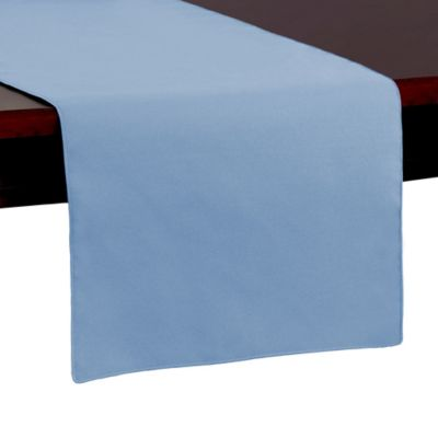 Beautiful Spun Polyester 54 Inch Table Runner In Light Blue