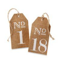 Kate Aspen® Number 13-18 Burlap Table Numbers