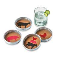 Jar Lid Farm Animals Coasters (Set of 4)