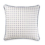 Real Simple Lisbon Square Throw Pillow in Blue/White
