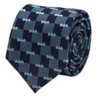 DC Comics™ Batman Checkered Logo Tie in Navy/Blue