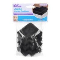 KidKusion® 4-Pack Jumbo Soft Corner Cushion in Black