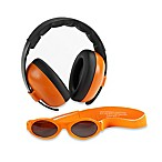 Baby Banz Size 0-2 Years earBanZ Hearing Protection with Sunglasses in Orange