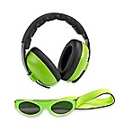 Baby Banz Size 0-2 Years earBanZ Hearing Protection with Sunglasses in Lime