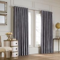 Valeron Lustre Grommet Top 108-Inch Wide x 84-Inch Long Window Curtain Panel in Charcoal