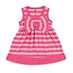 BabyVision® Hudson Baby® Size 0-3M Sleeveless Big Bow Striped Dress in Pink