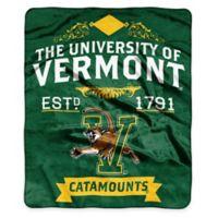 NCAA University of Vermont Super Plush Raschel Throw Blanket