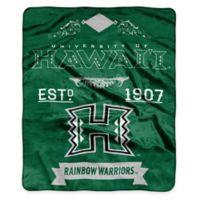 NCAA University of Hawaii Super Plush Raschel Throw Blanket