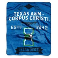 NCAA Texas A&M University Corpus Christi Super Plush Raschel Throw Blanket