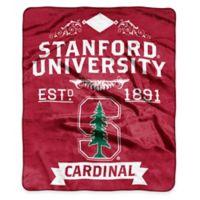 NCAA Stanford University Super Plush Raschel Throw Blanket