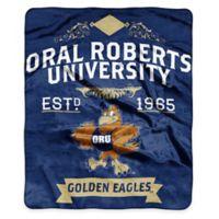 NCAA Oral Roberts University Super Plush Raschel Throw Blanket