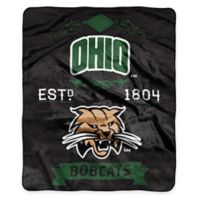 NCAA Ohio University Super Plush Raschel Throw Blanket
