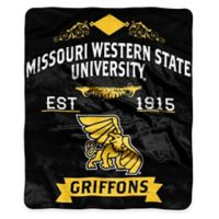 NCAA Missouri Western State University Super Plush Raschel Throw Blanket