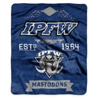 NCAA Indiana University Purdue University Fort Wayne Super Plush Raschel Throw Blanket