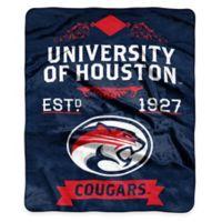 NCAA University of Houston Super Plush Raschel Throw Blanket