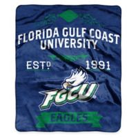 NCAA Florida Gulf Coast University Super Plush Raschel Throw Blanket